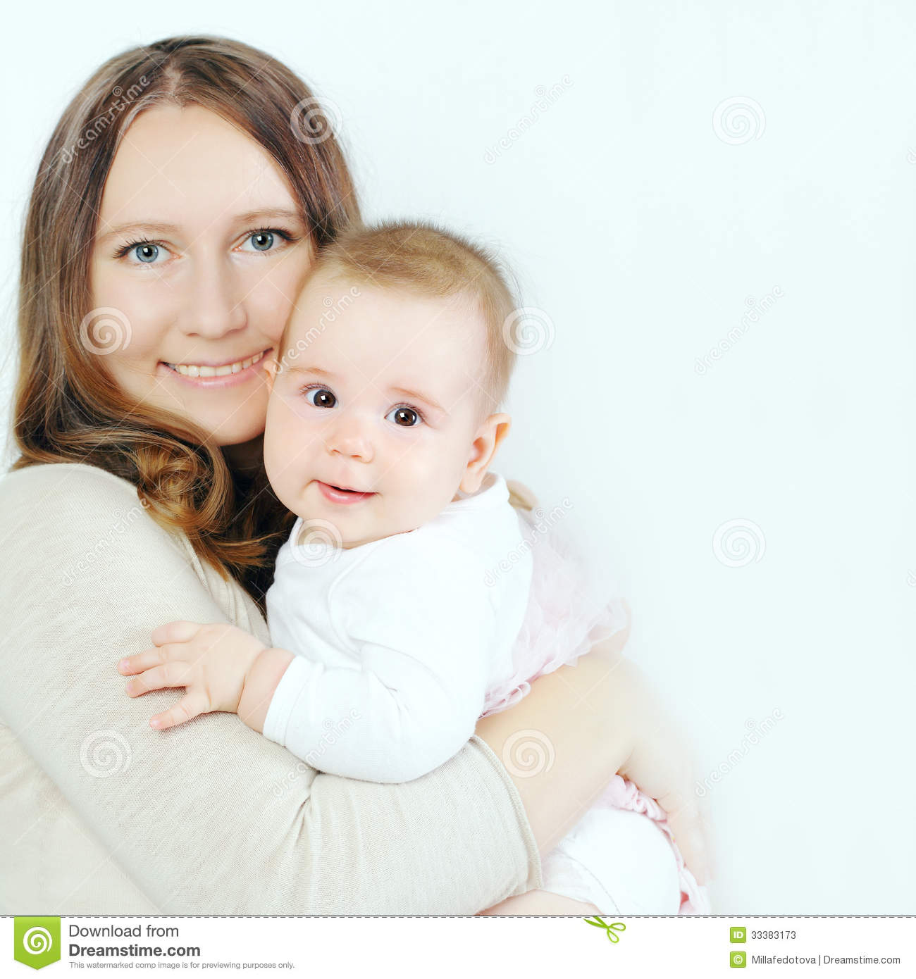 Baby And Mother Hugging Happy Family Stock Photos Image