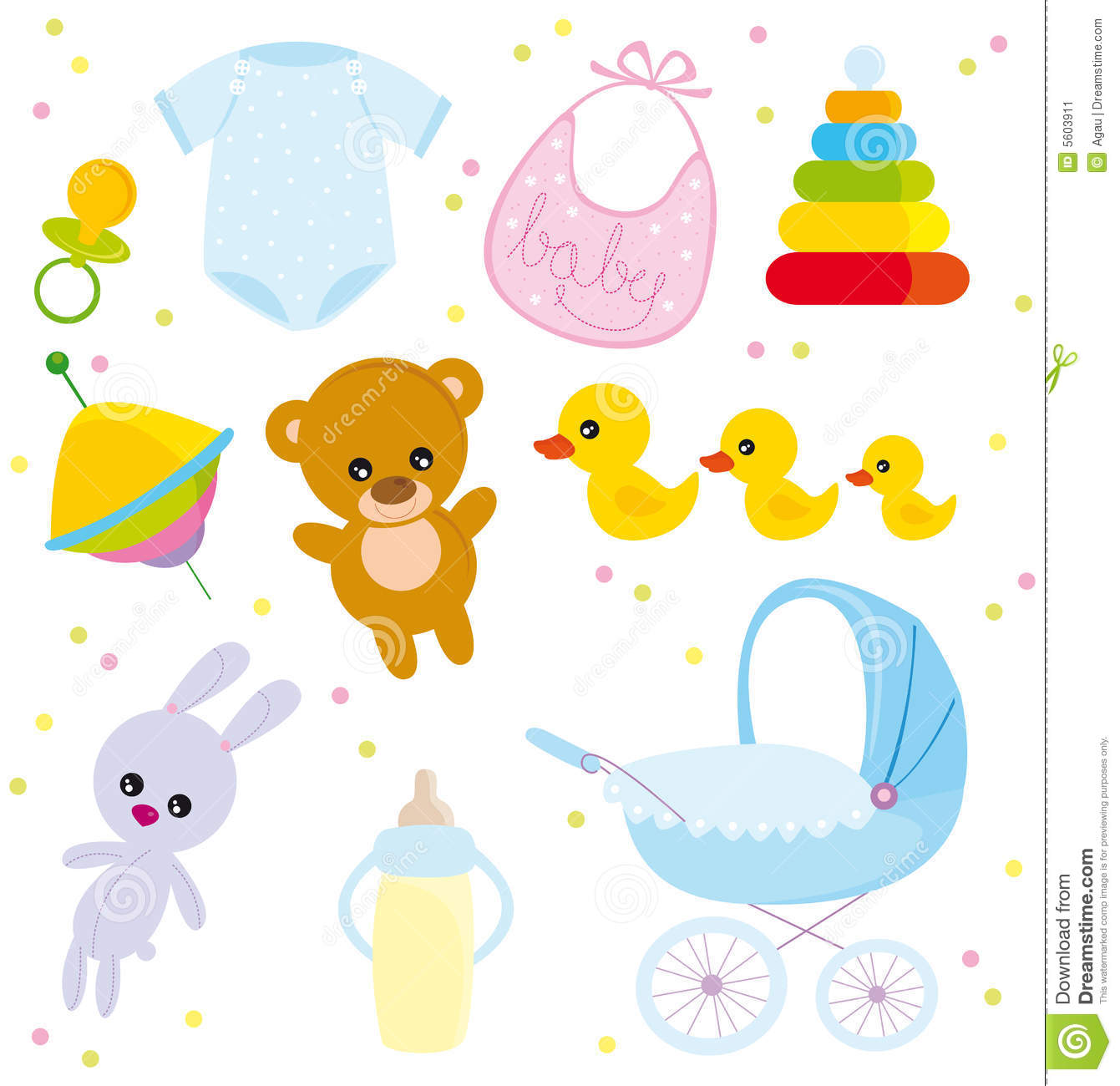 Baby objects stock image image 5603911