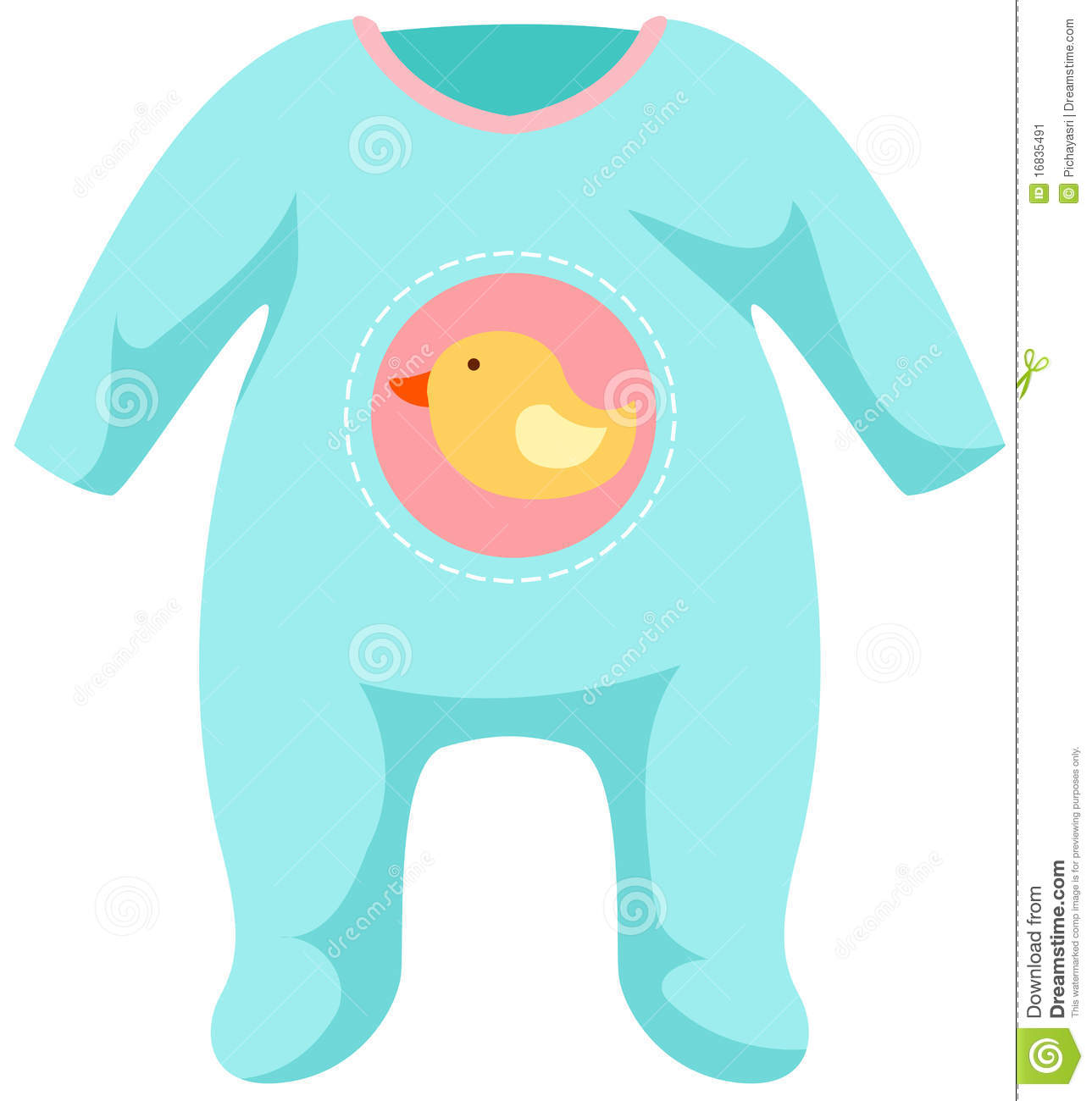 Baby Onesie Template In Pink And Blue Royalty Free – Onesie Template