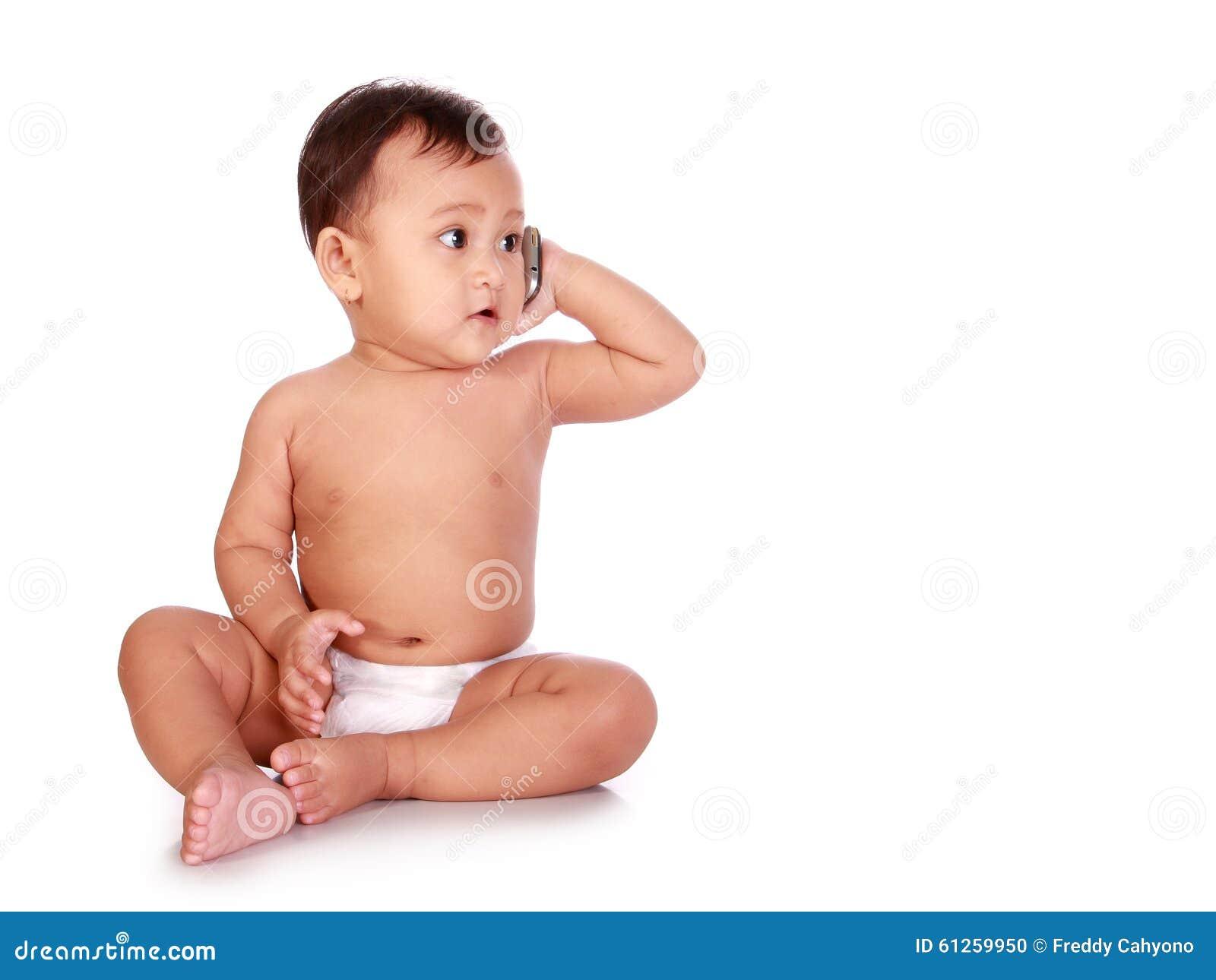 Baby op telefoon