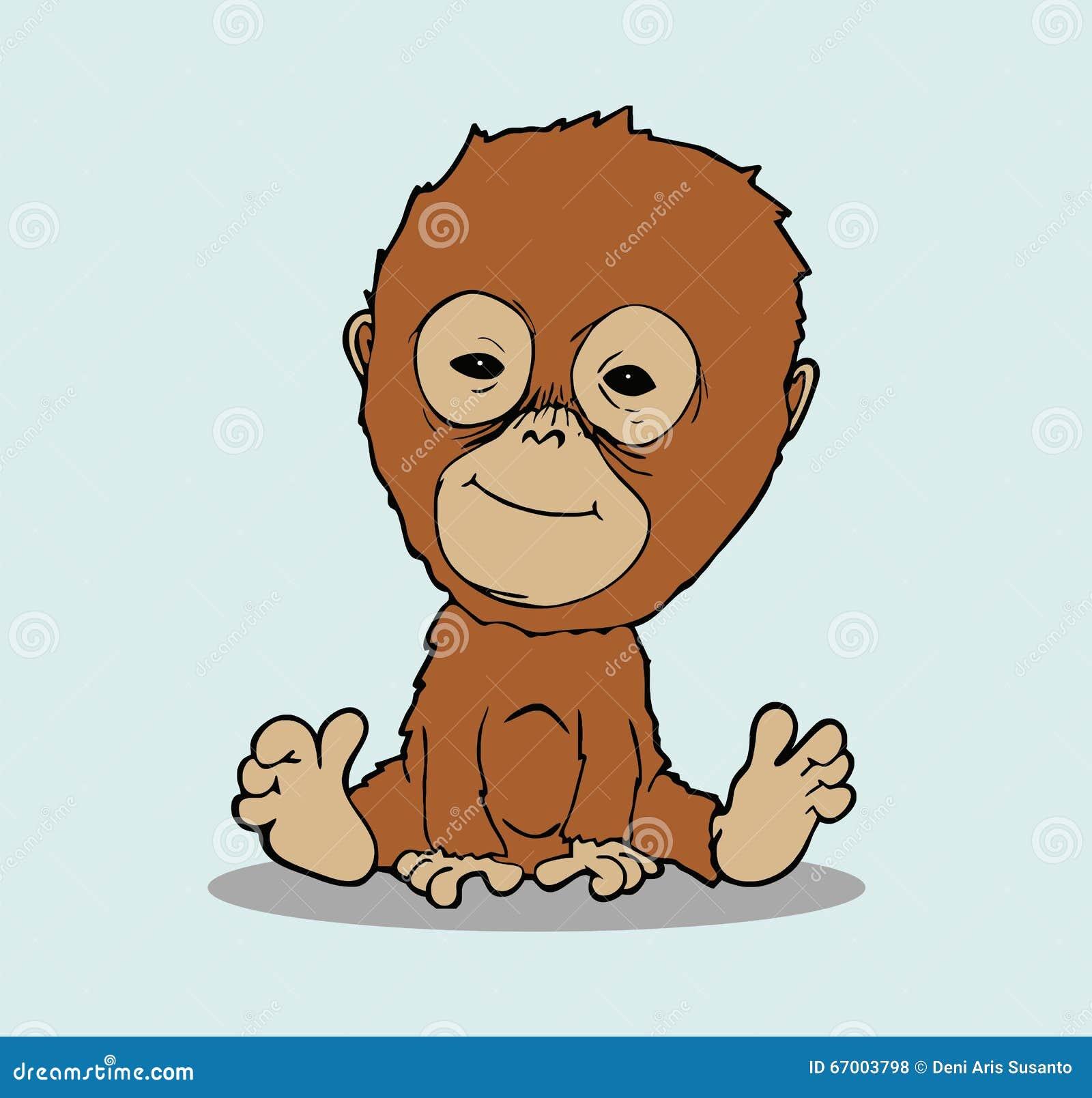 Orangutan Cartoon Baby orangutan ...