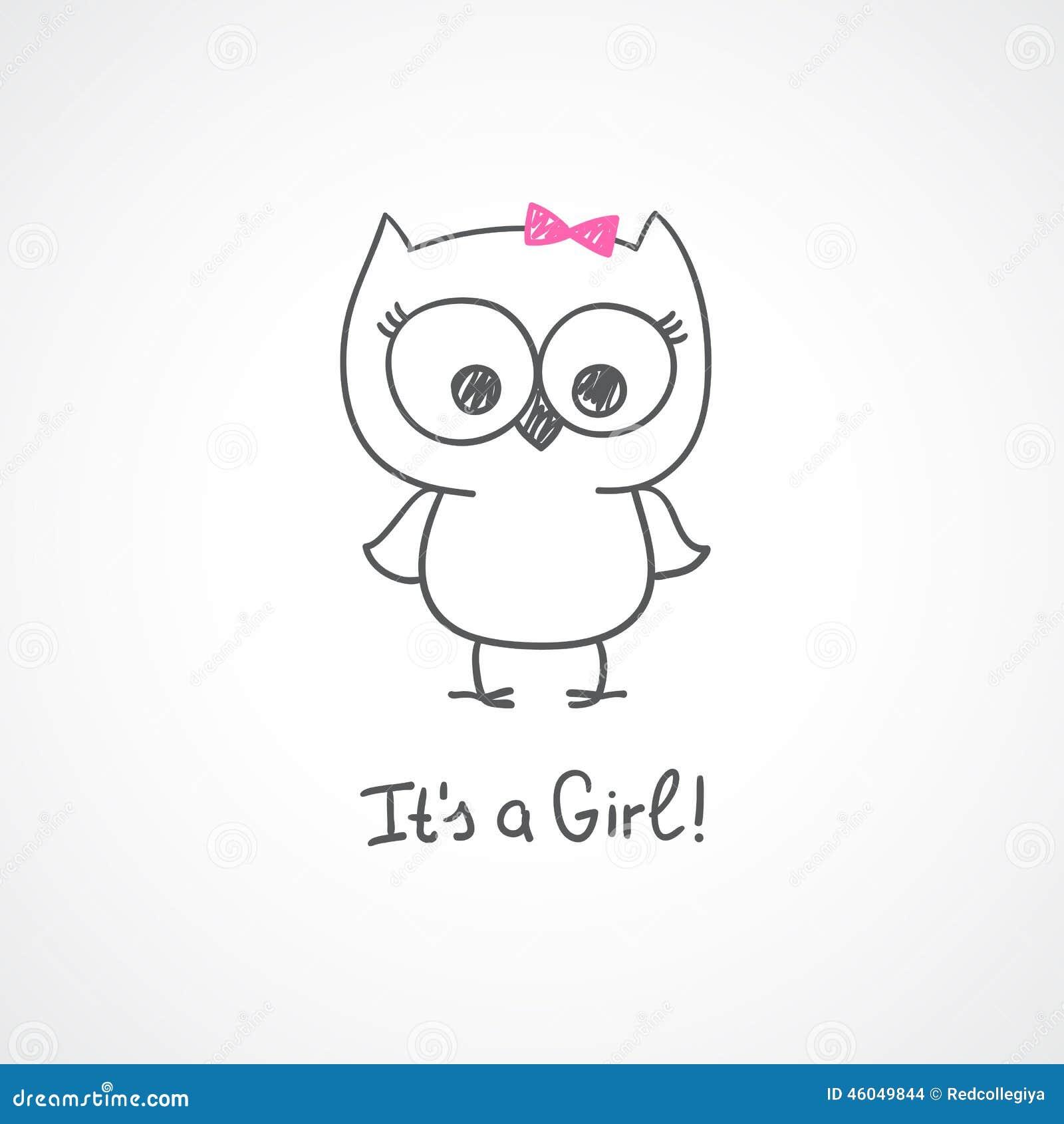 baby owl stock vector image 46049844