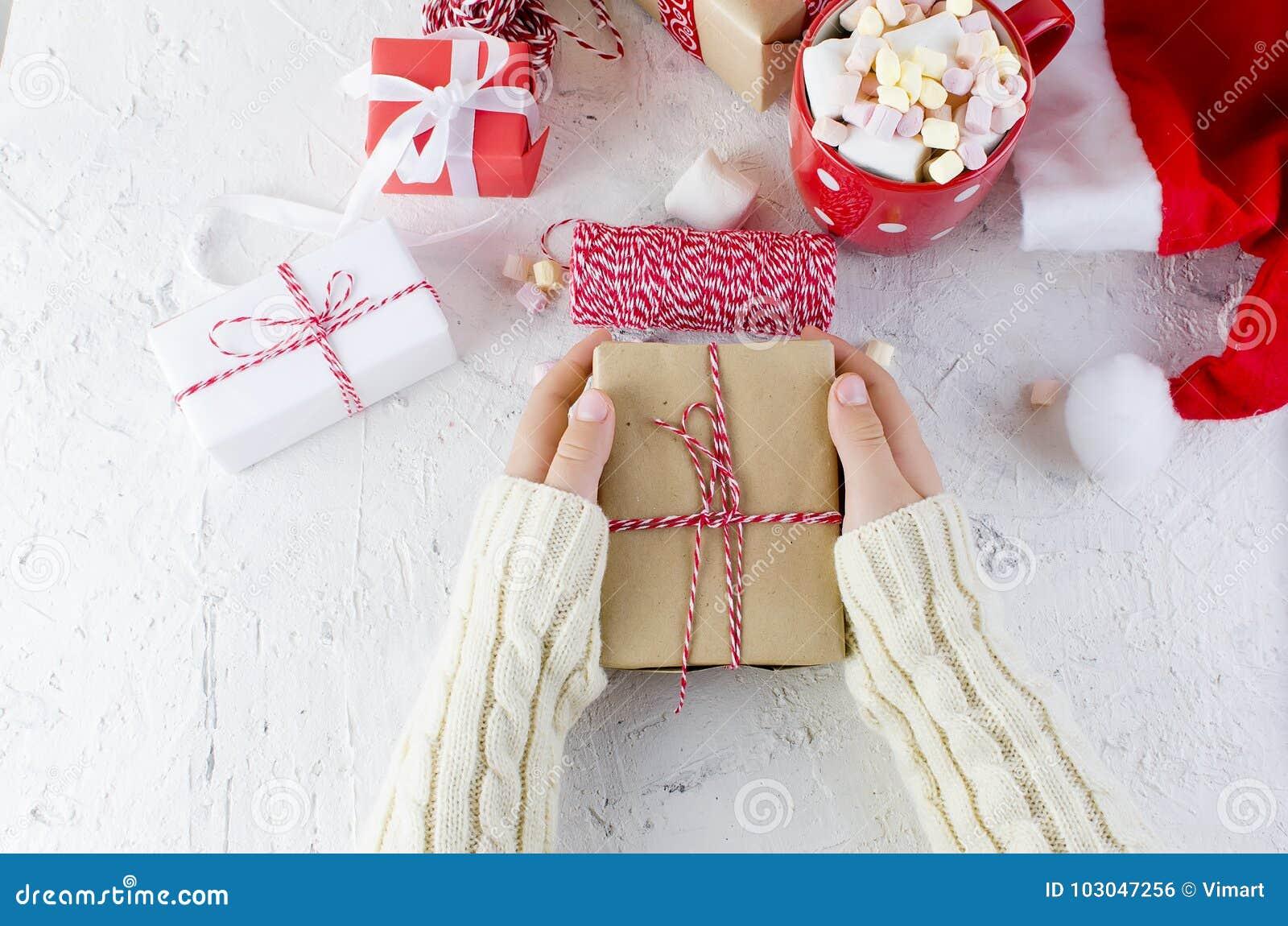 Baby Packs A Handmade Gift. Christmas Gifts, Stock Photo ...