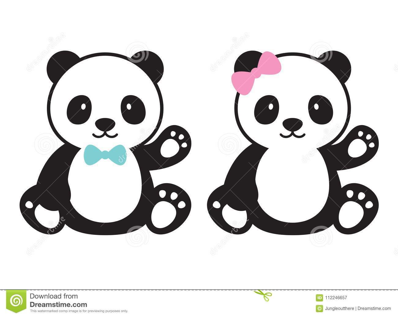 baby panda vector illustration stock vector illustration of