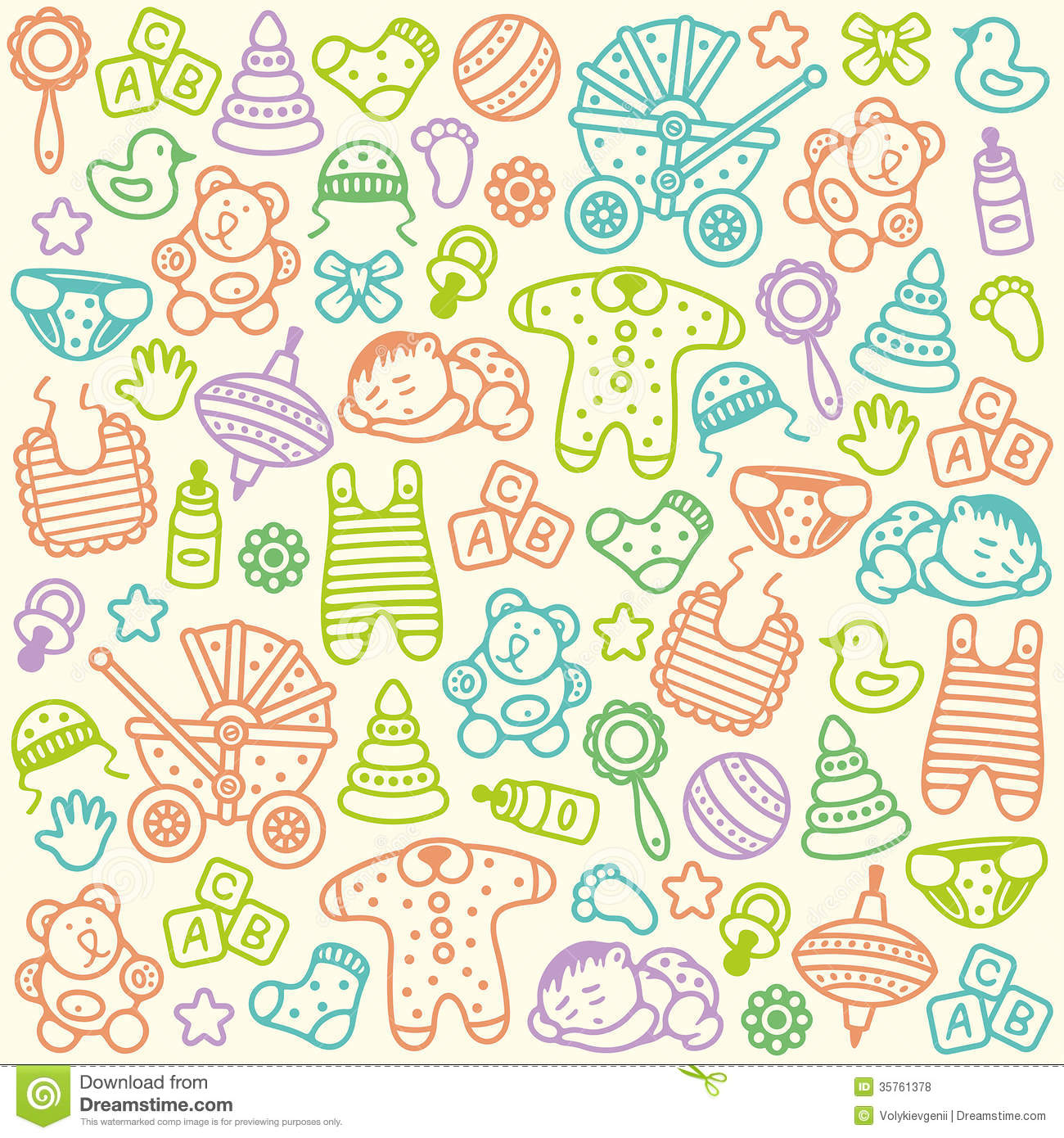 Baby Patterns : Baby Pattern Royalty Free Stock Photos - Image: 35761378