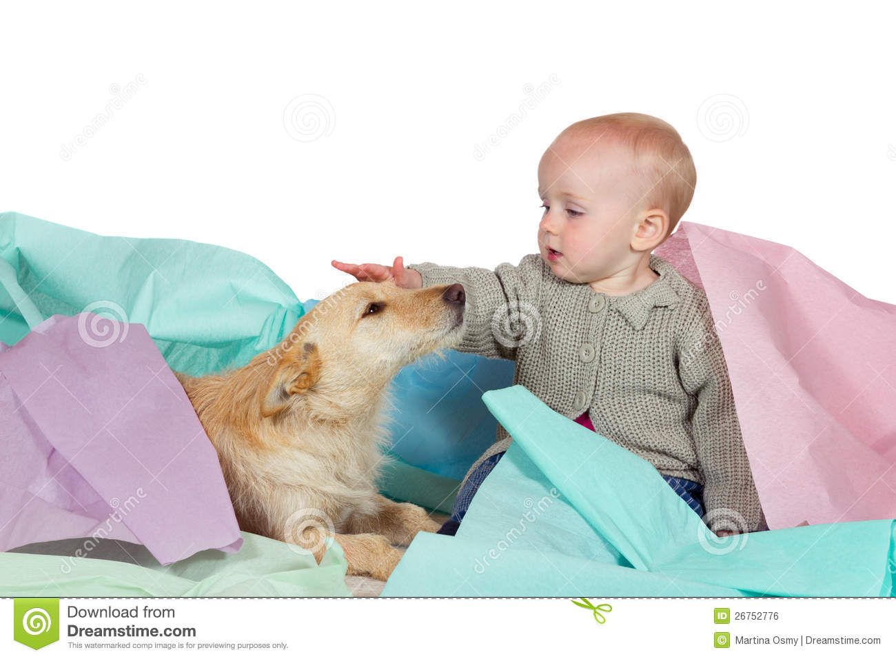Family Stroking Dog While Crouching At Park Royalty-Free Stock Photo | CartoonDealer ...