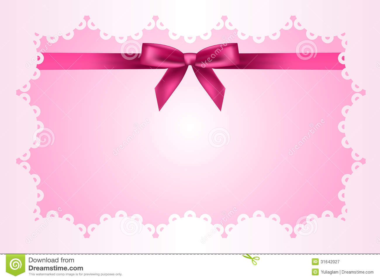 Baby Pink Frame With Lace Stock Vector Illustration Of