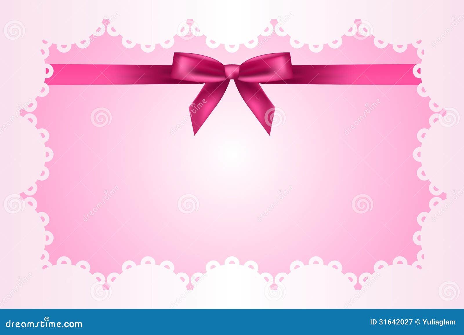 Baby pink ribbon border