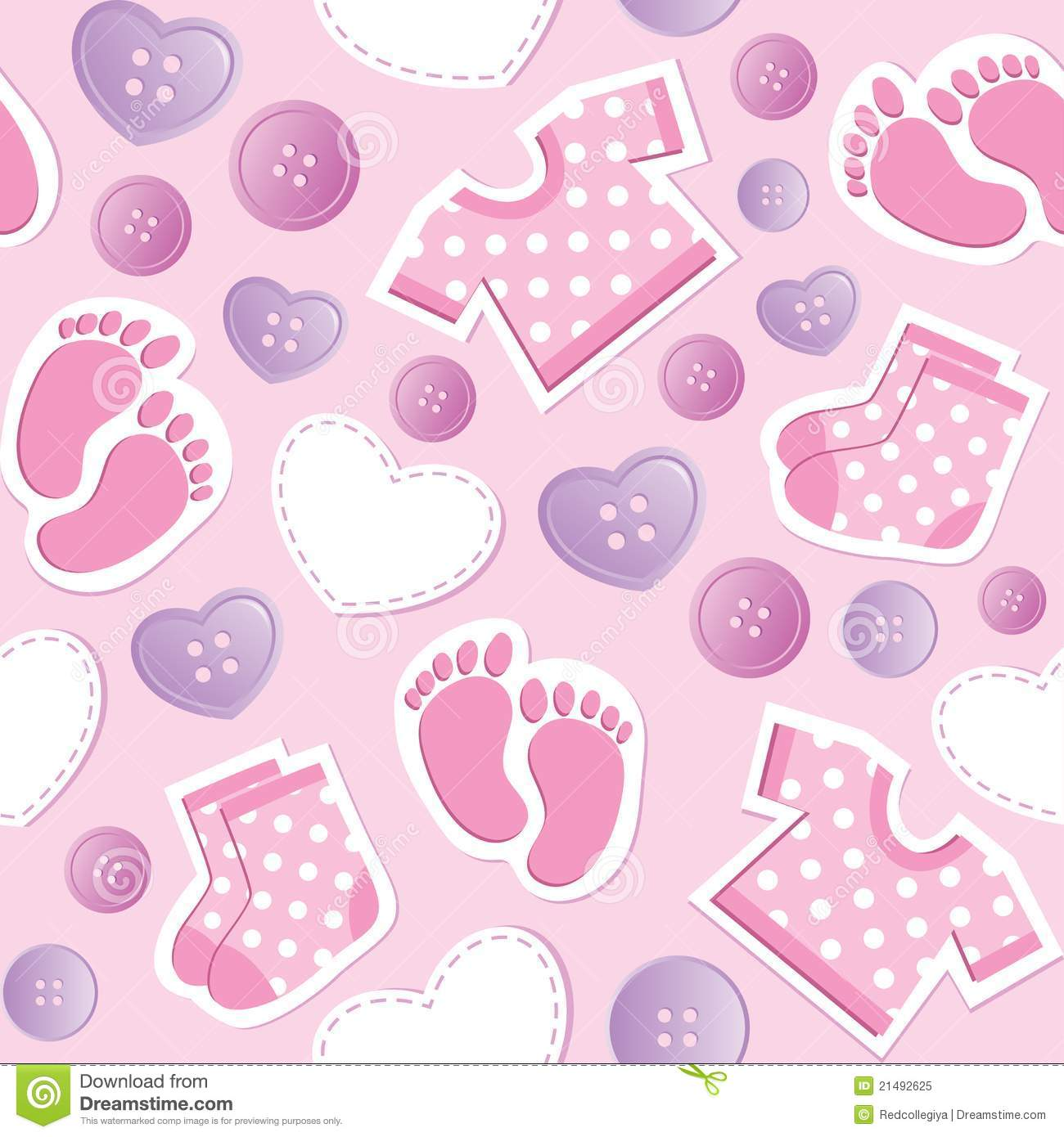Baby Pink Seamless Pattern Royalty Free Stock Photo  Image: 21492625