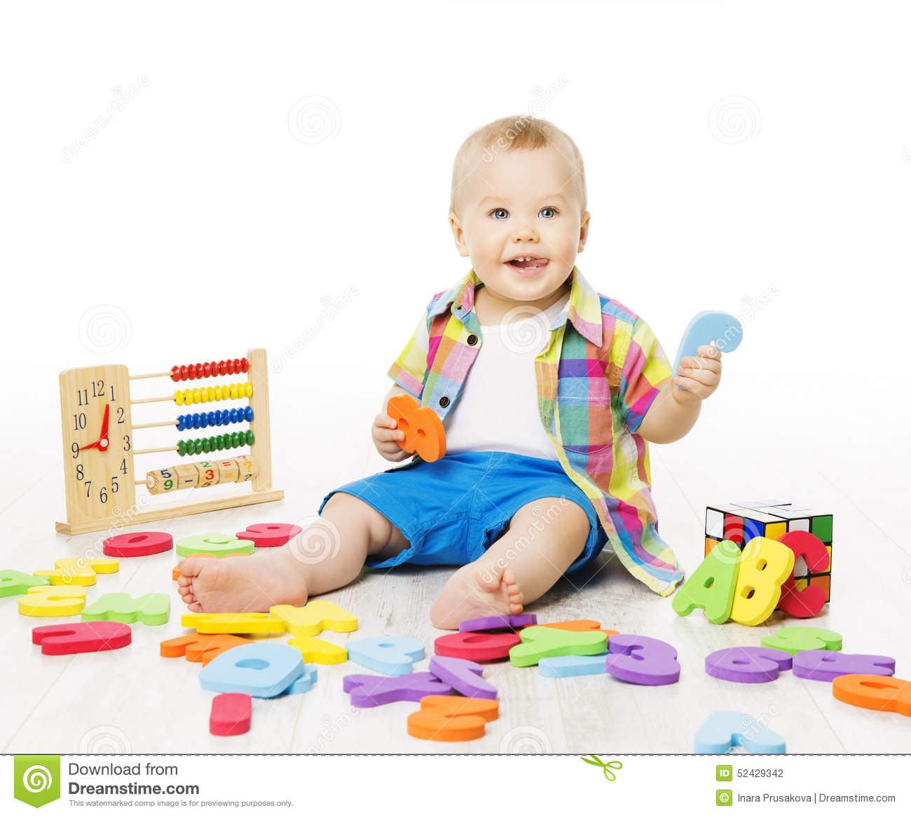 Toys At Play : Baby playing education toys kid play alphabet letters