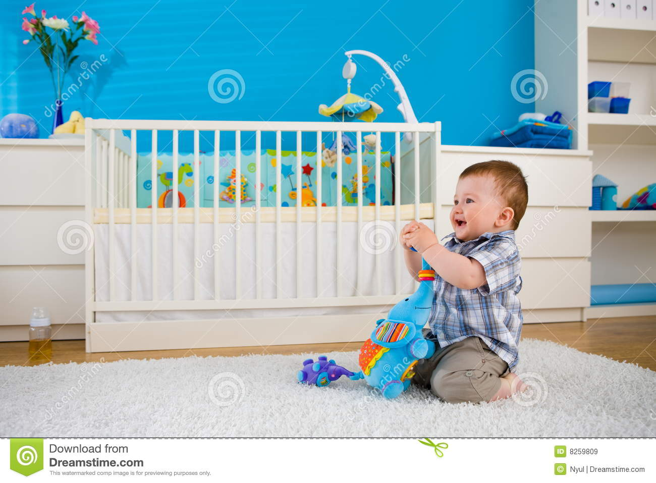 Baby Playing At Home Royalty Free Stock Images Image