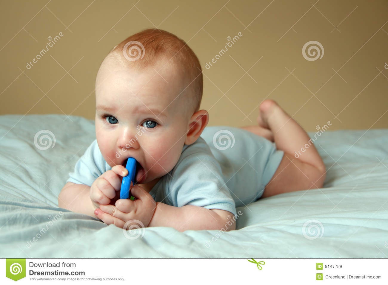 ... of six months old sweet baby. A beautiful baby playing with rattle