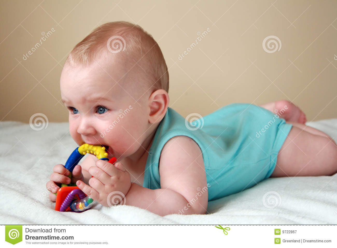 Baby Playing With Rattle Royalty Free Stock Photography ...