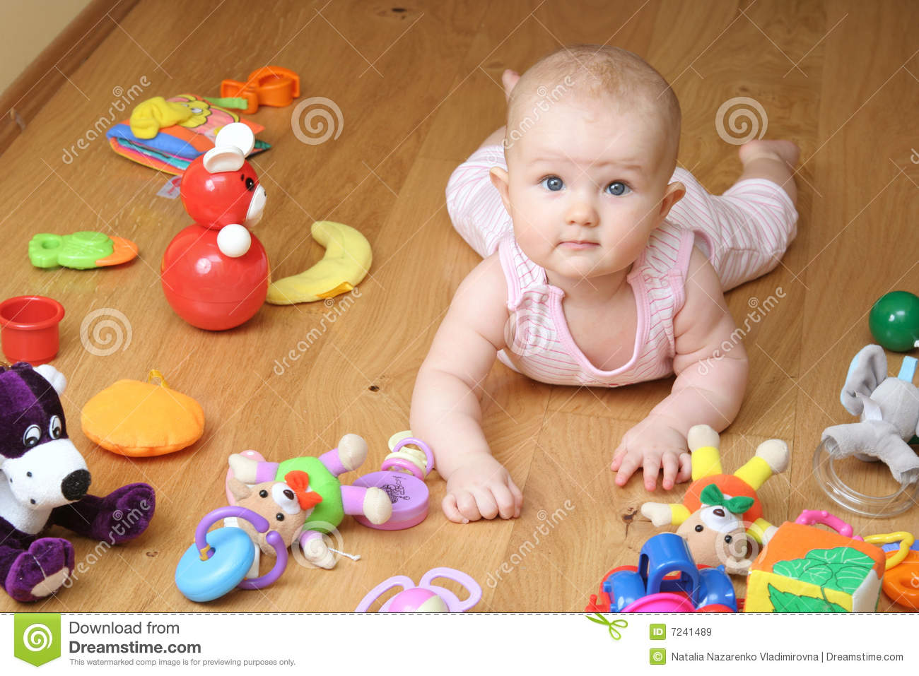 baby playing with a toys stock image. image of joyful - 7241489