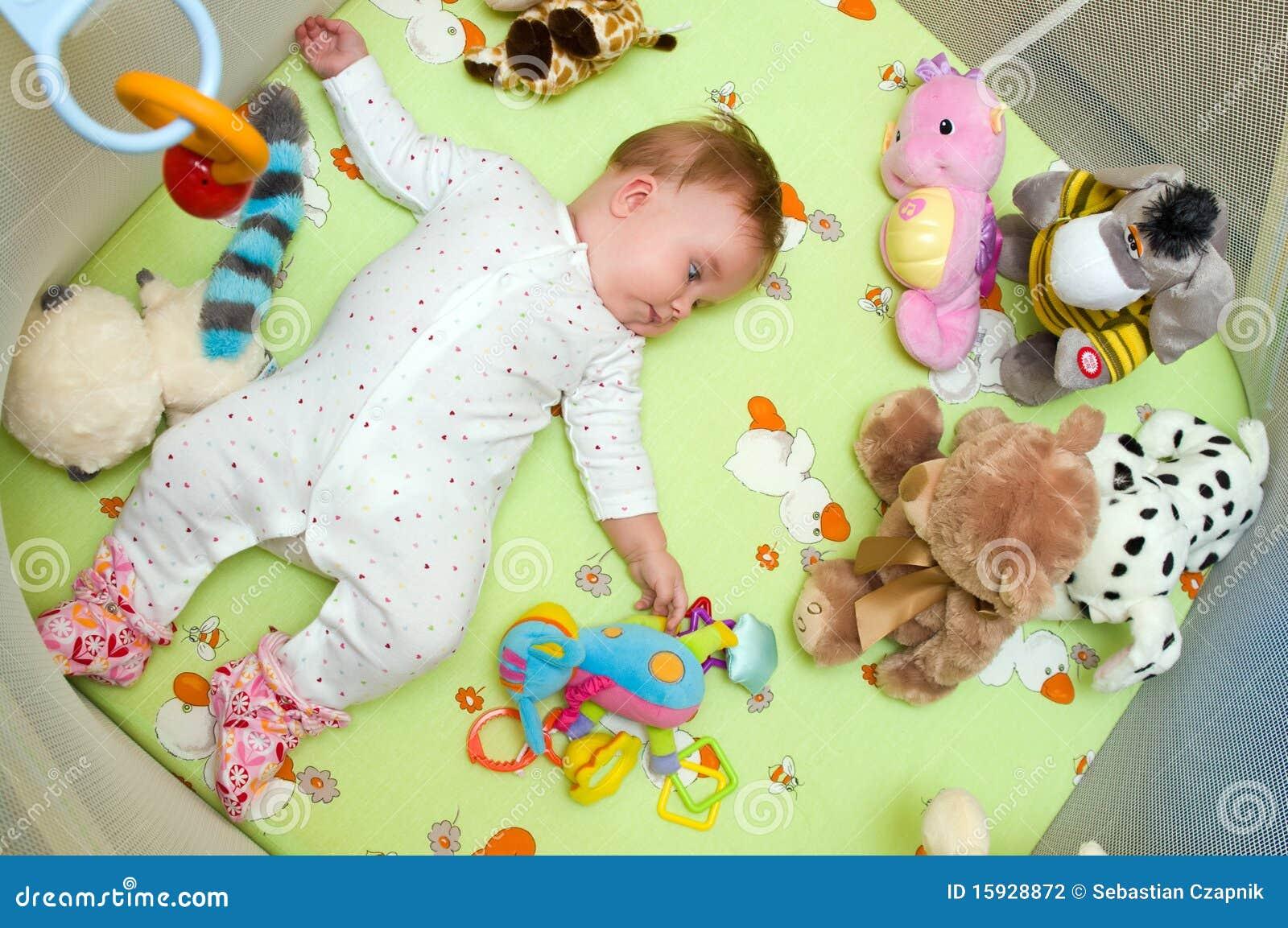 royaltyfree stock photo download baby in playpen