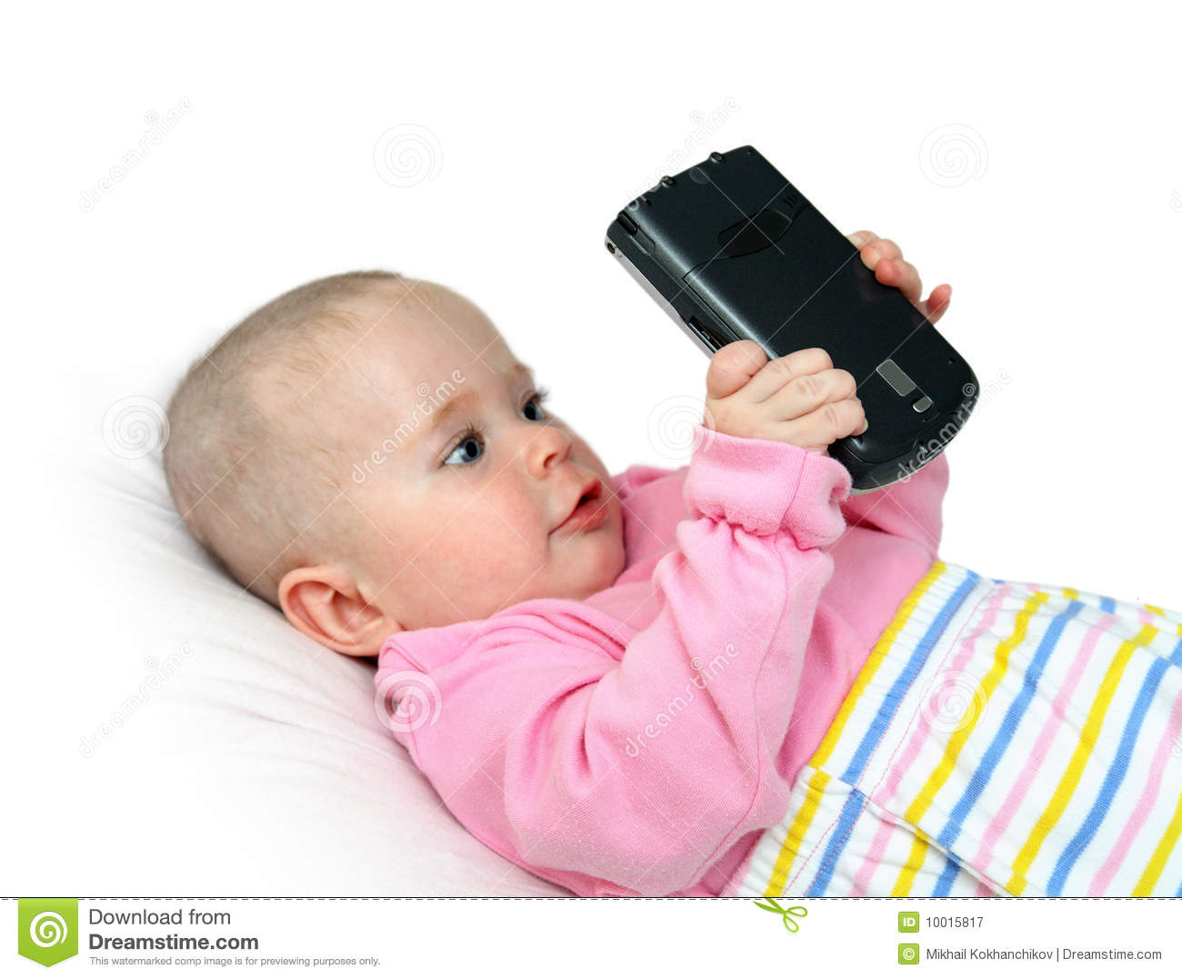 Baby with pocket pc
