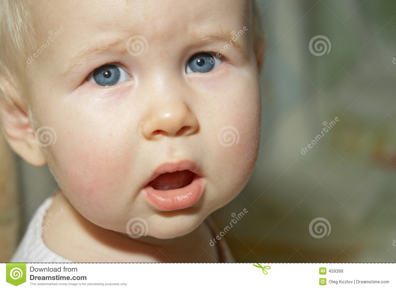 Download Baby portrait stock image. Image of grey, closeup, infant - 459399