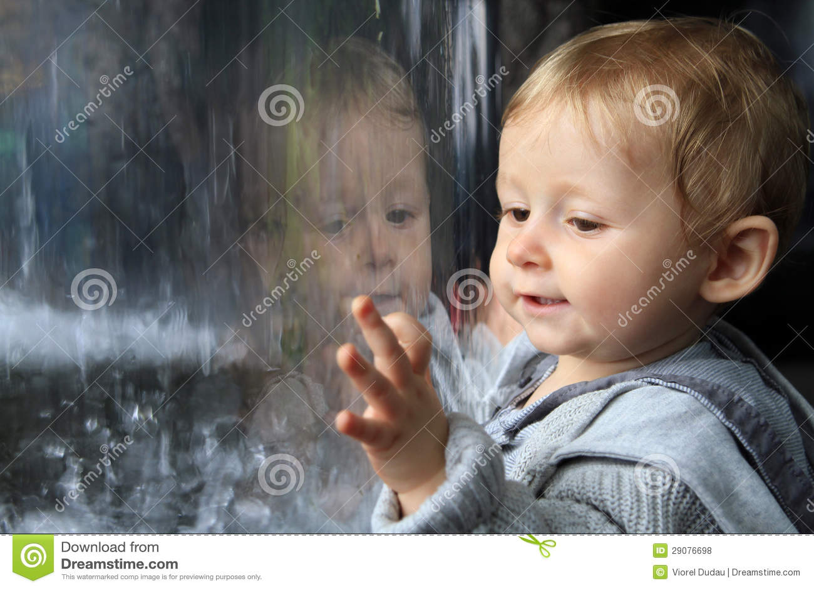Baby portrait reflecting
