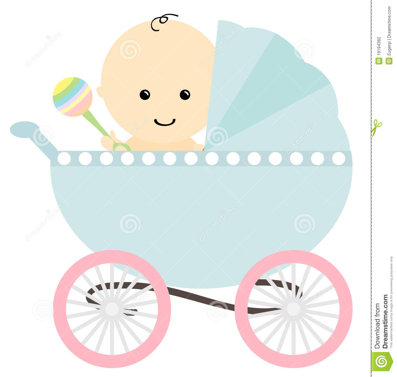Baby Stroller Clip Art baby in pram stock photography - image ...