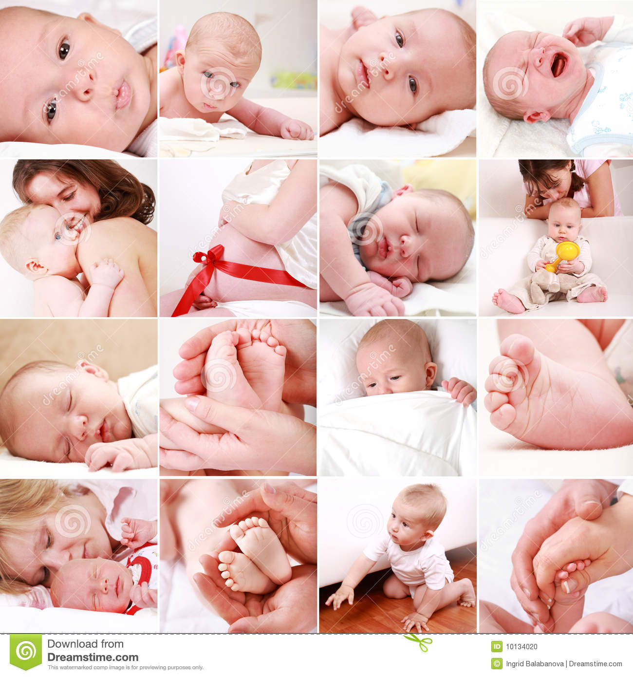Baby And Pregnancy Collage Stock Photo - Image: 10134020