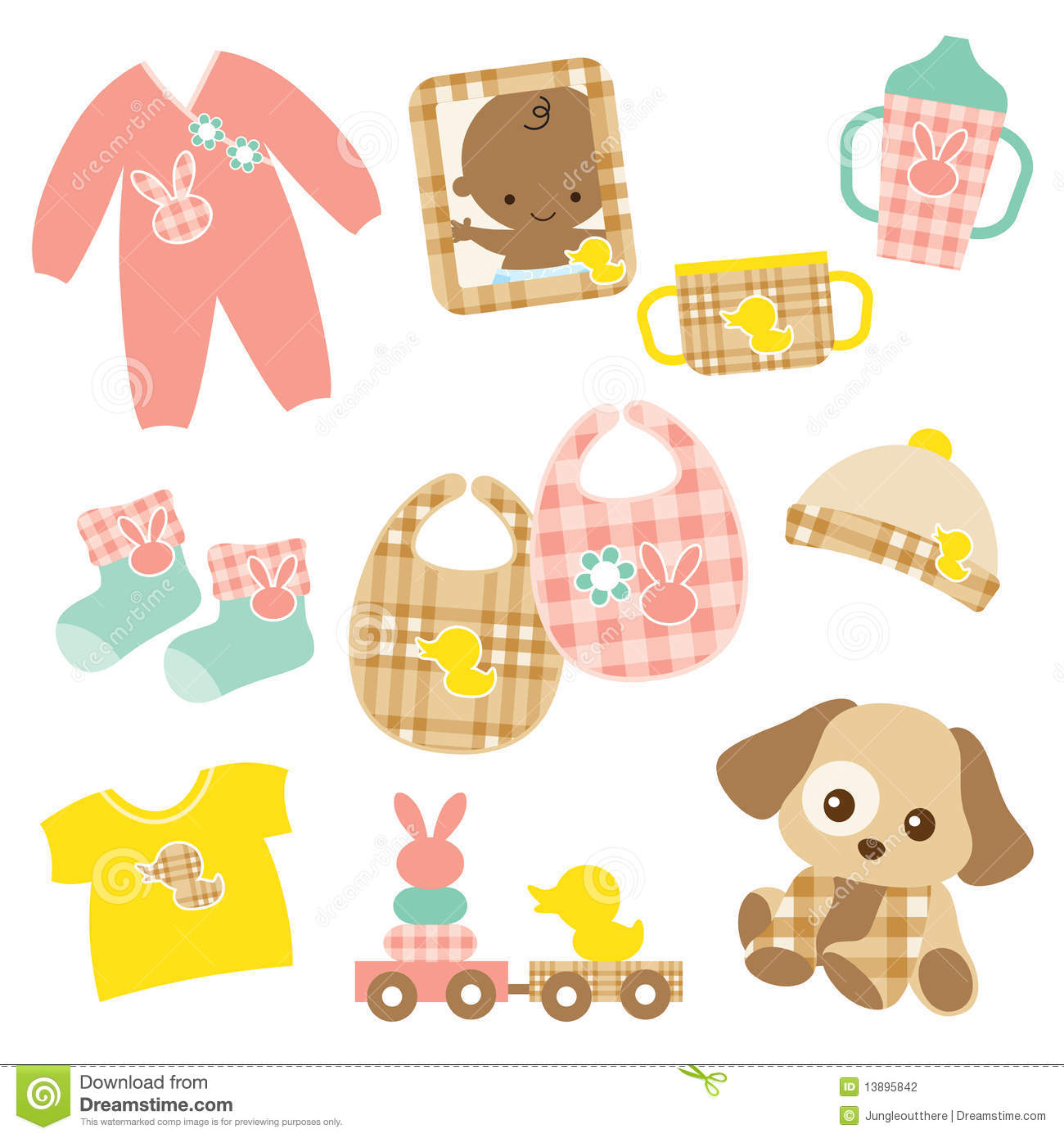 Baby Product Set Stock Photography Image 13895842
