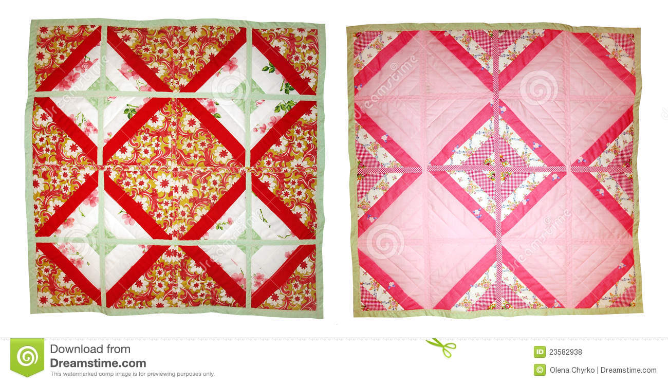 Baby Quilt Patchwork Of White And Cream With Alphabet Quilting