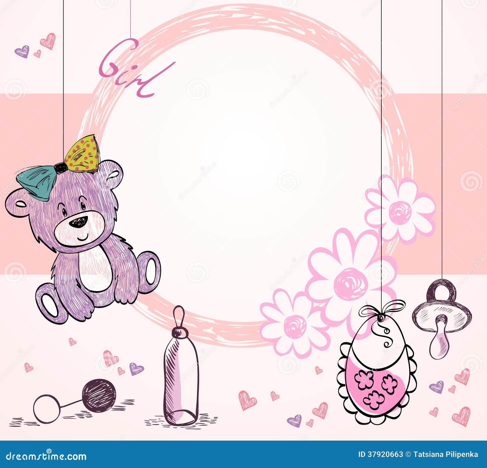 Baby-Rahmen vektor abbildung. Illustration von gruß, kind - 37920663