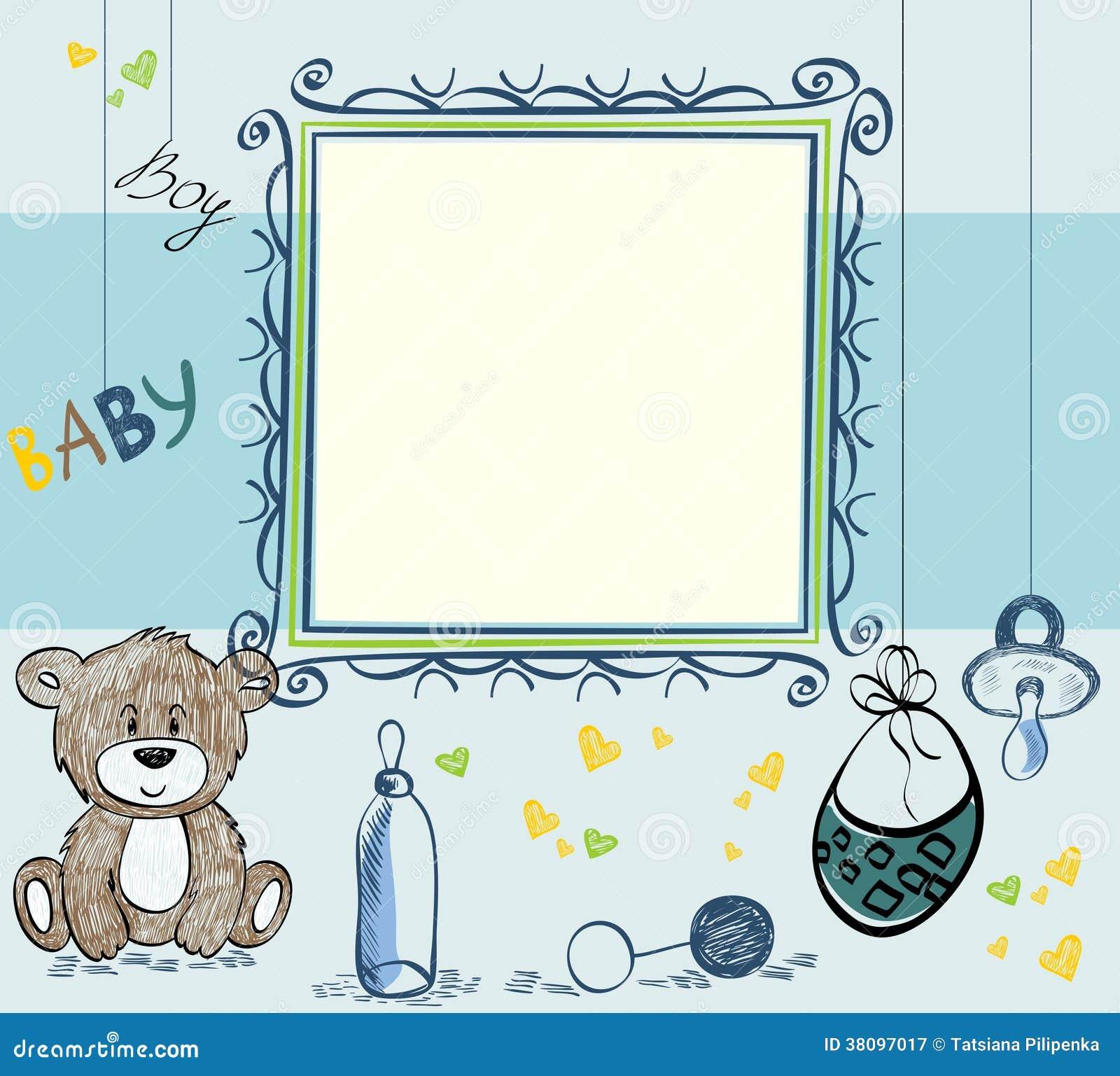 Baby-Rahmen vektor abbildung. Illustration von blau, feier - 38097017