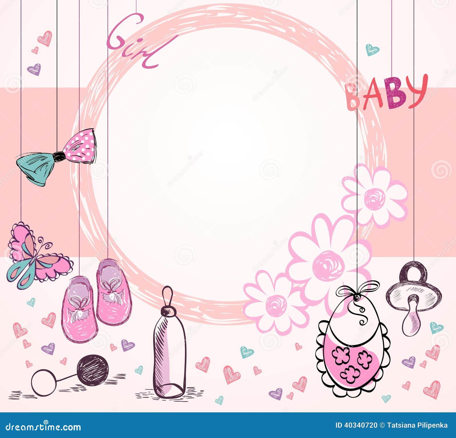 Baby-Rahmen vektor abbildung. Illustration von element - 40340720