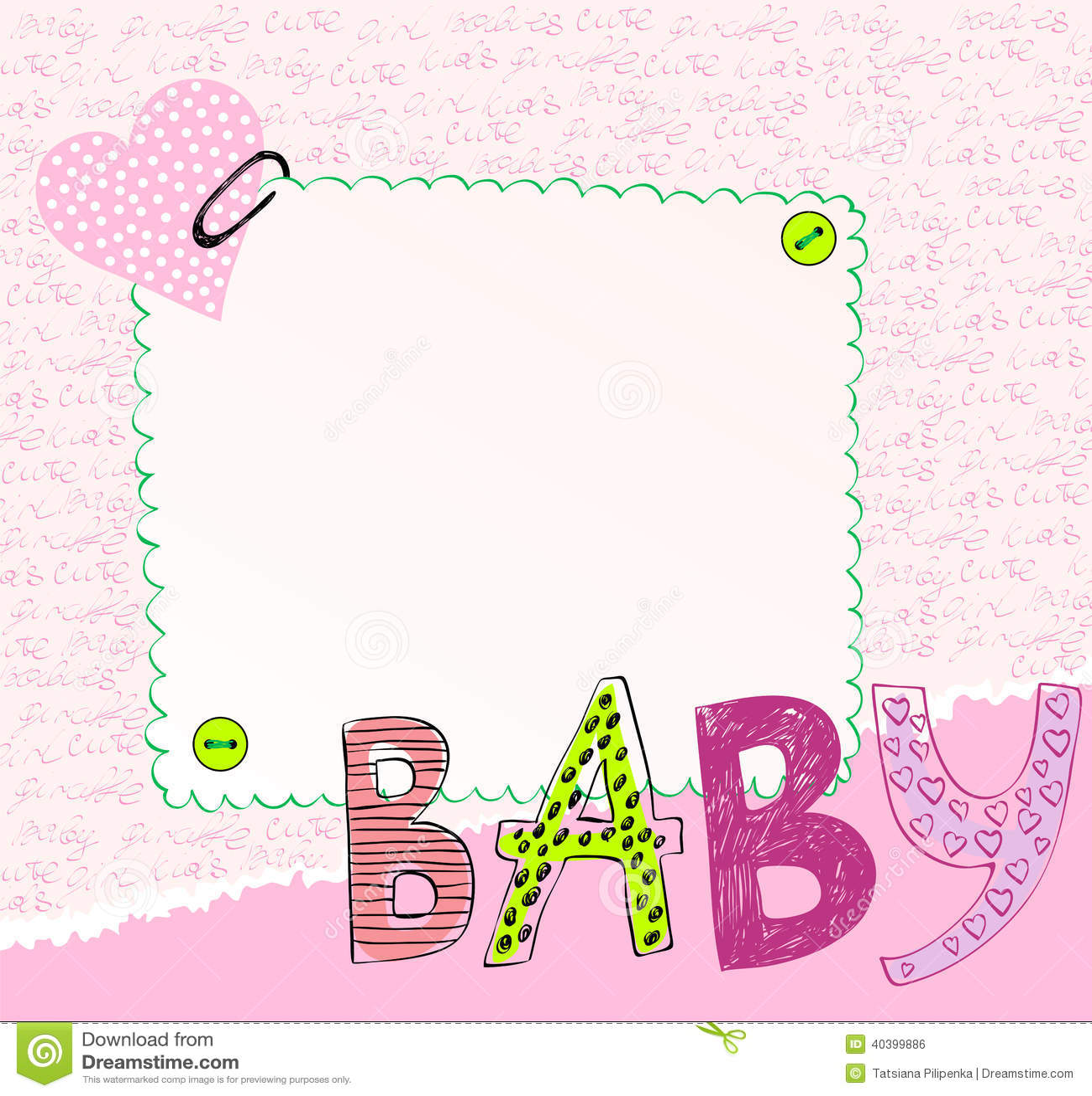 Baby-Rahmen vektor abbildung. Illustration von glücklich - 40399886