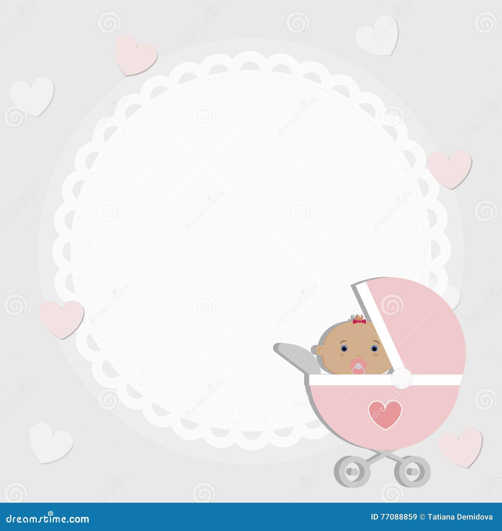 Baby-Rahmen Plakat Für Grüße Oder Einladungen Vektor Abbildung ...