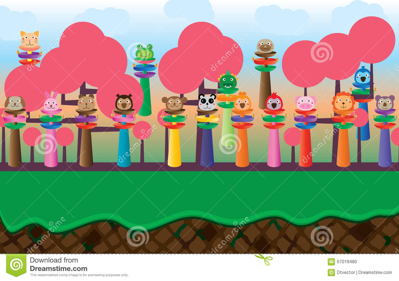 baby rattle cartoon bell background game template stock vector