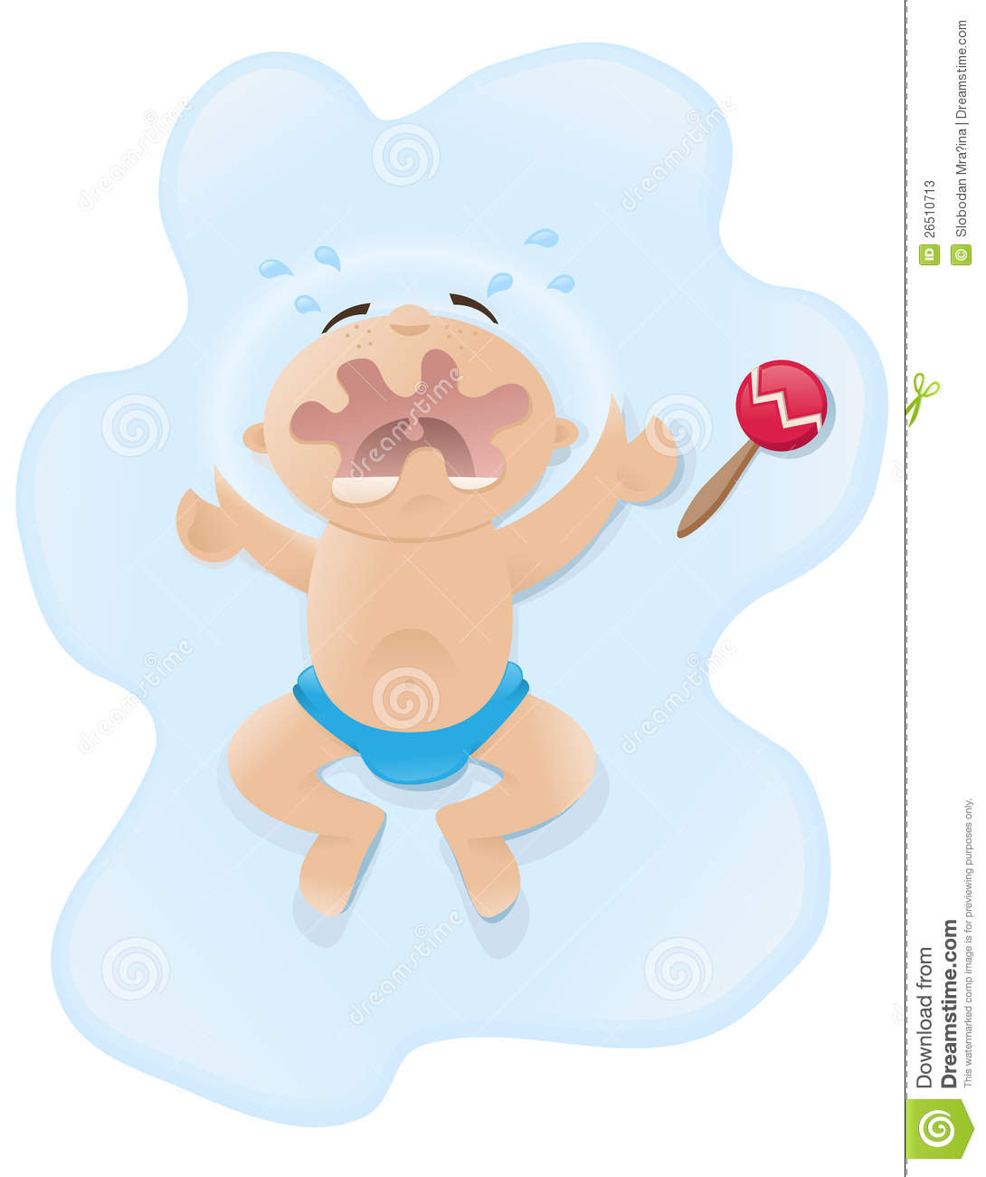 Crying Baby Illustration Stock Photos - Image: 26510713