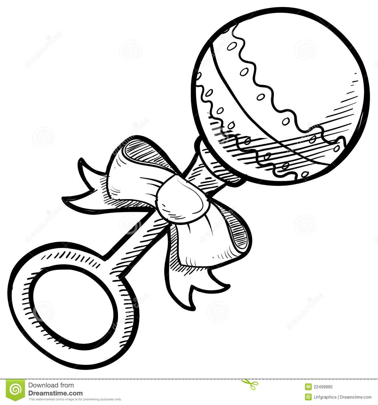 Baby Toys Drawing : Baby rattle drawing stock vector illustration of shaker