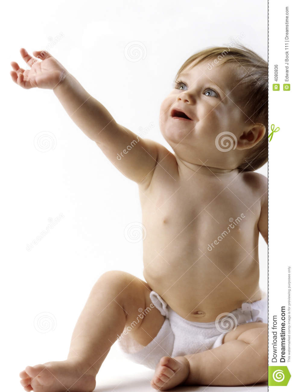 baby reaching up royalty free stock image image 4080836 Free Diapers Clip cloth diaper clipart free