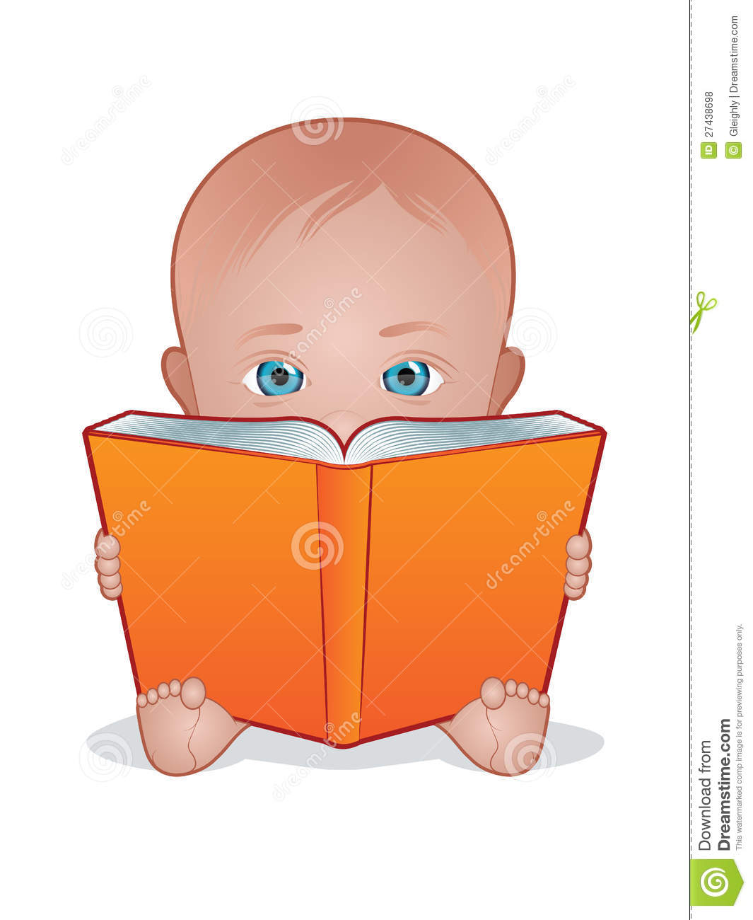Free Clipart Child Reading Book
