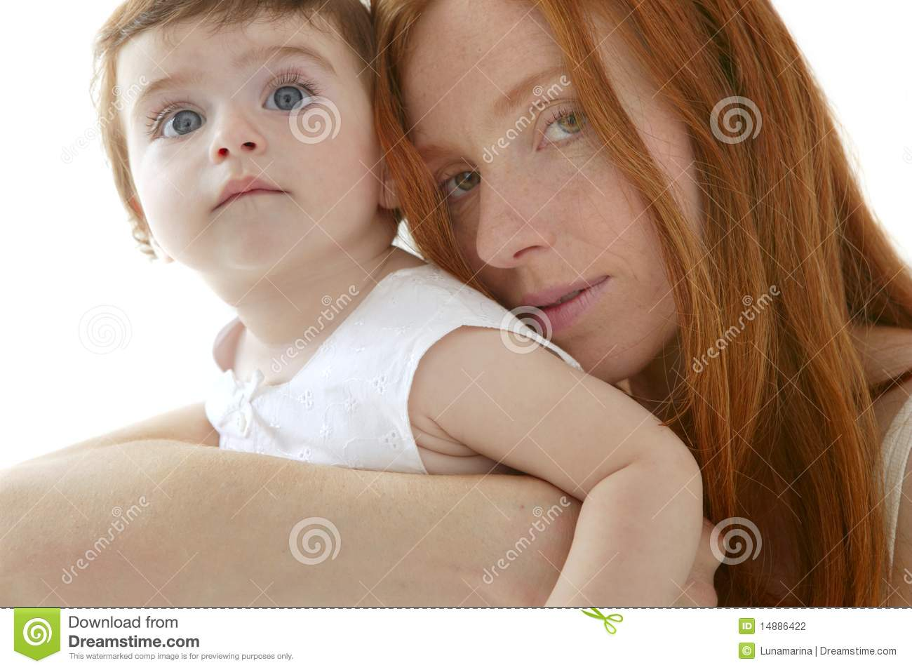 Redhead mother daughter