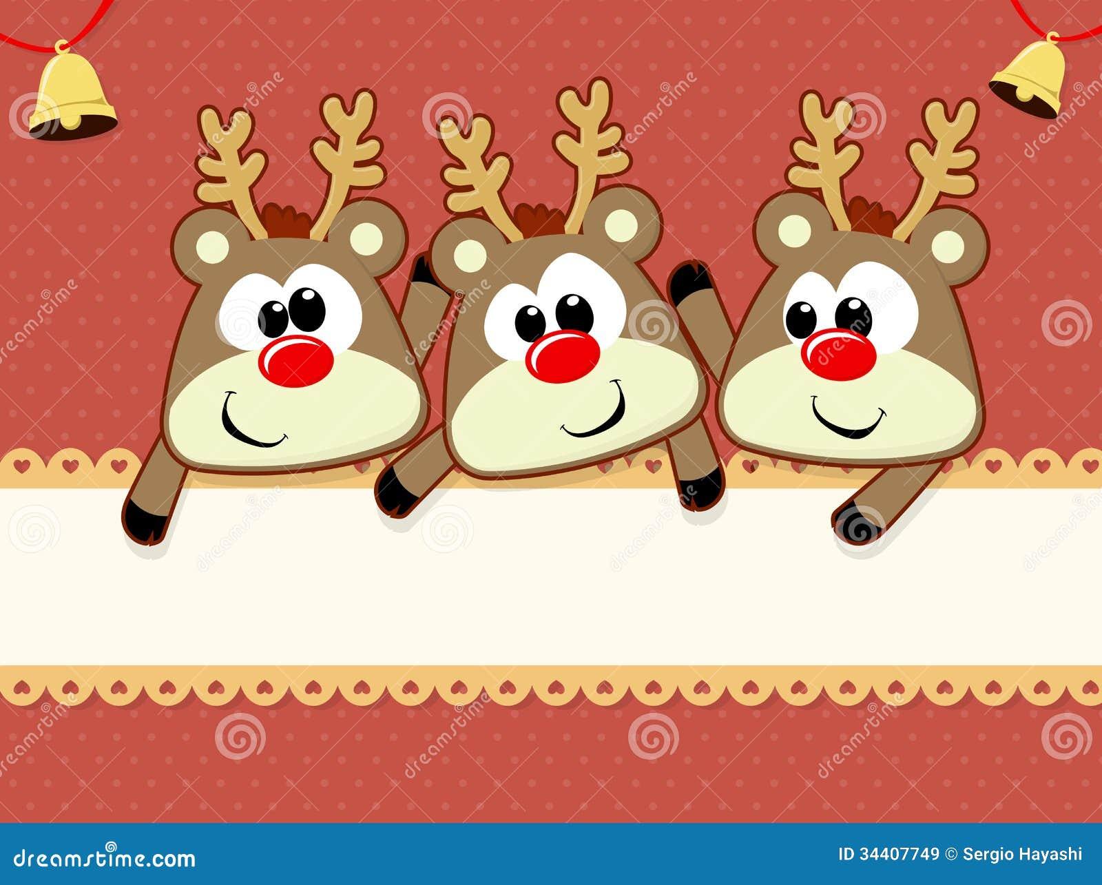 Baby reindeers christmas card stock vector image 34407749 - Tarjetas de navidad artesanales ...
