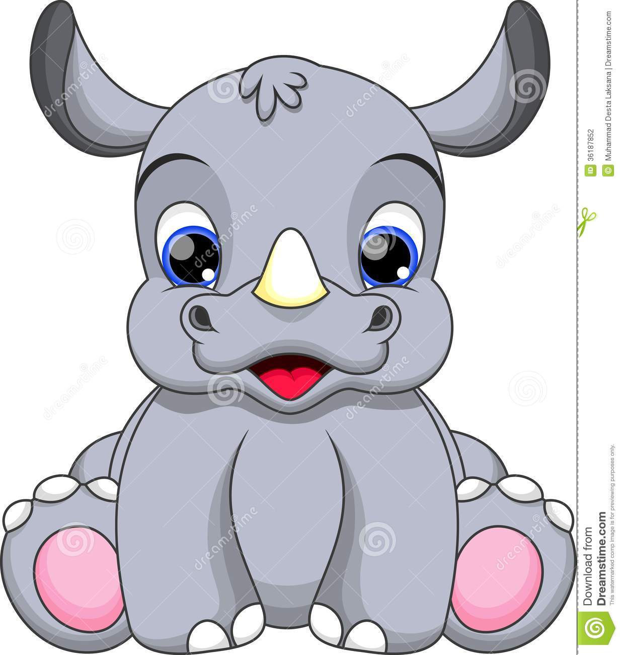 Baby Rhino Cartoon Stock Photography - Image: 36187852