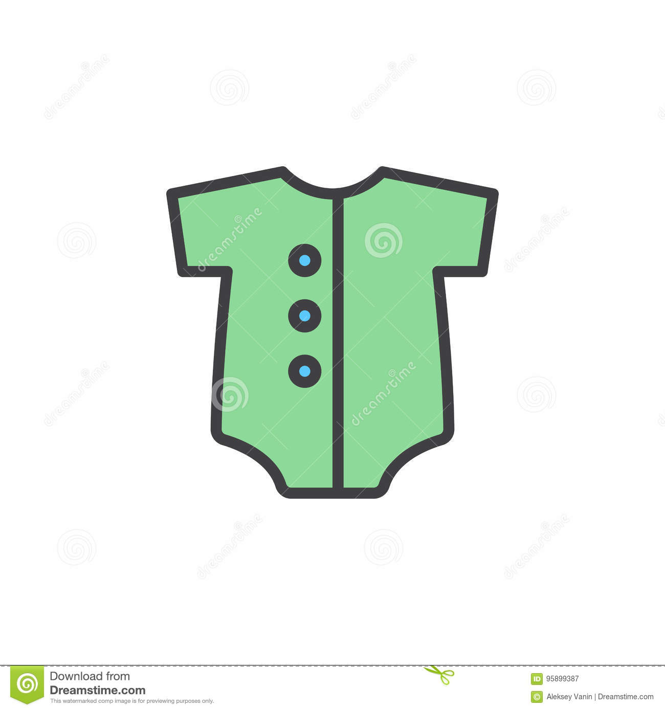 d85afb8f639 Baby Romper Filled Outline Icon