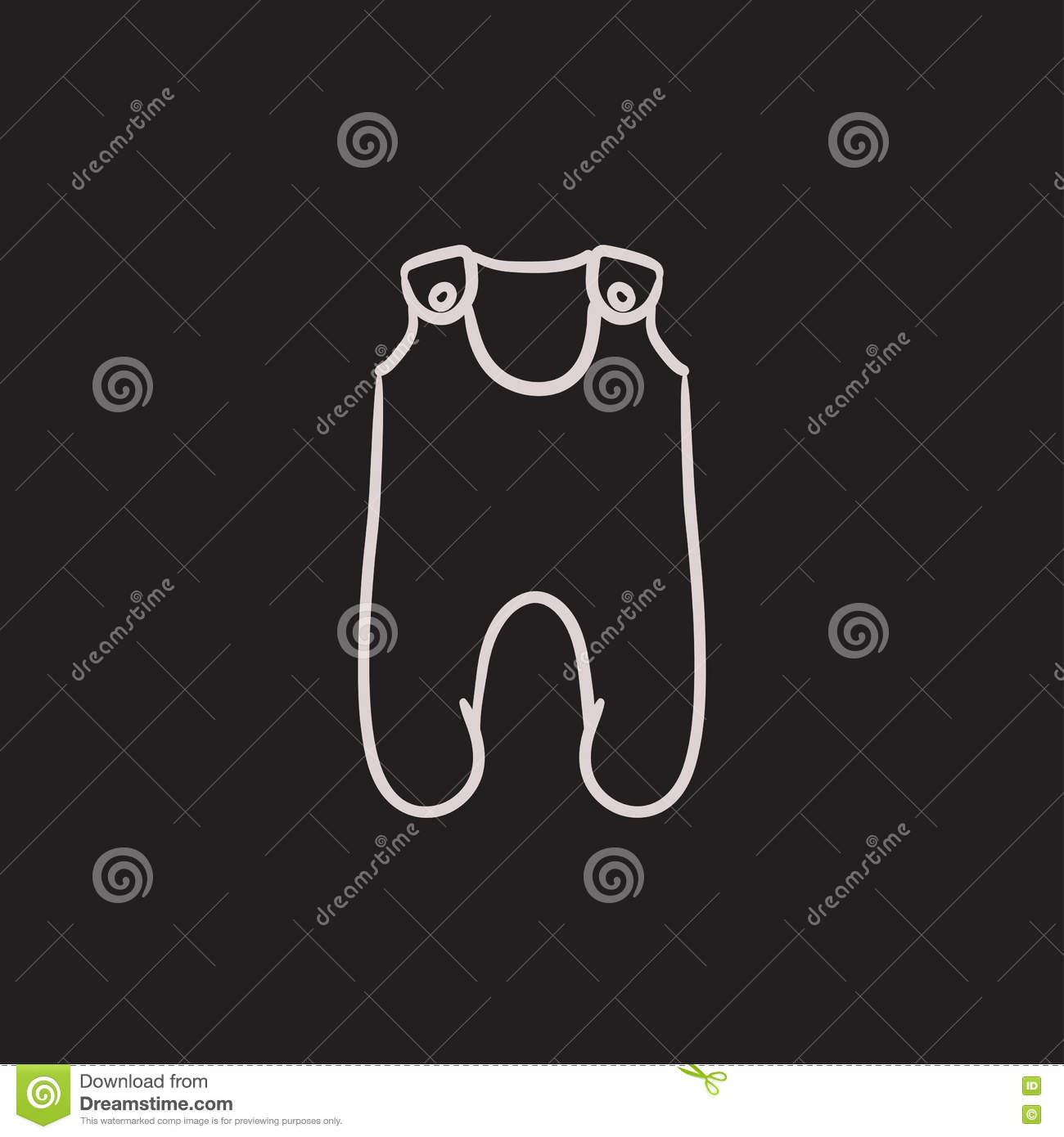 6858dc5dcec7 Baby romper sketch icon. stock vector. Illustration of cotton - 78163479