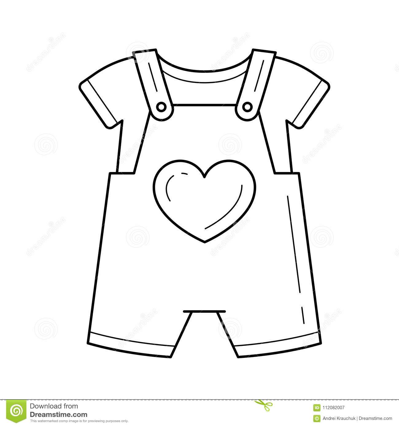 38c9d3859bcc Baby Romper Vector Line Icon. Stock Vector - Illustration of infant ...