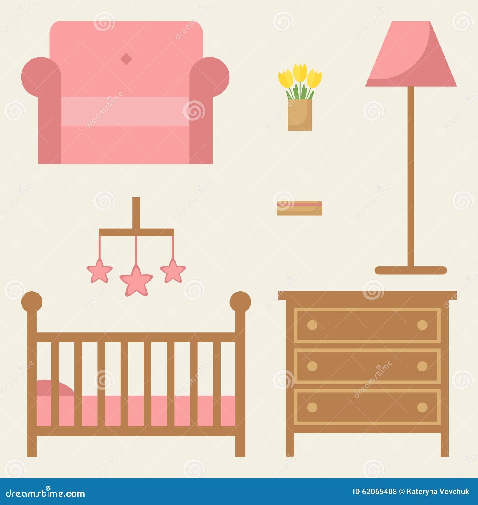 Baby Room Furniture Set Modern Wooden Furniture Stock