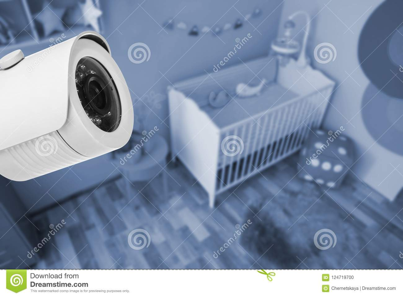 Baby Room Under CCTV Camera Surveillance Stock Photo - Image of