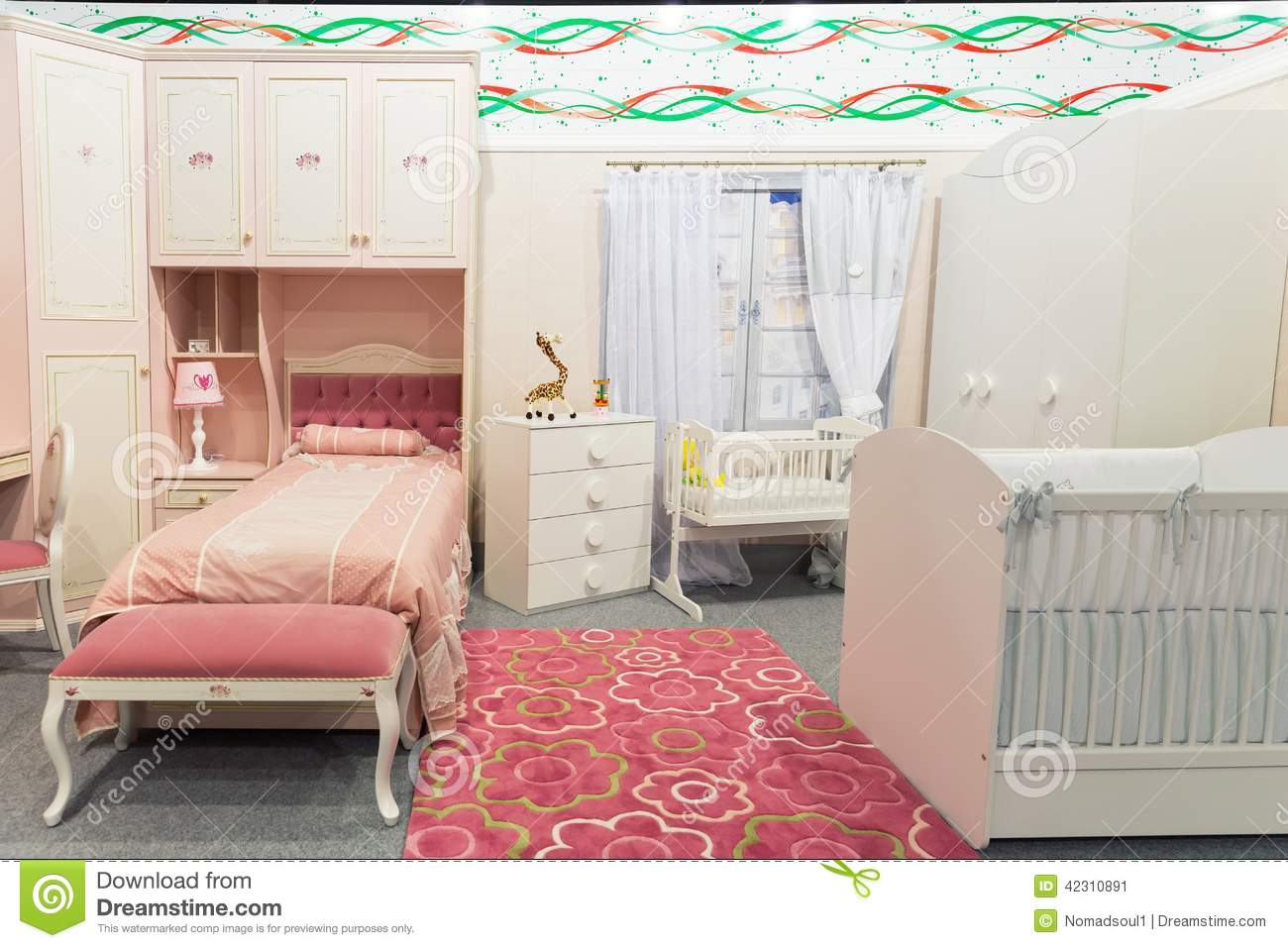 Pastel Colors Bedroom Babys Bedroom In Pastel Colors Stock Photo Image 42310891
