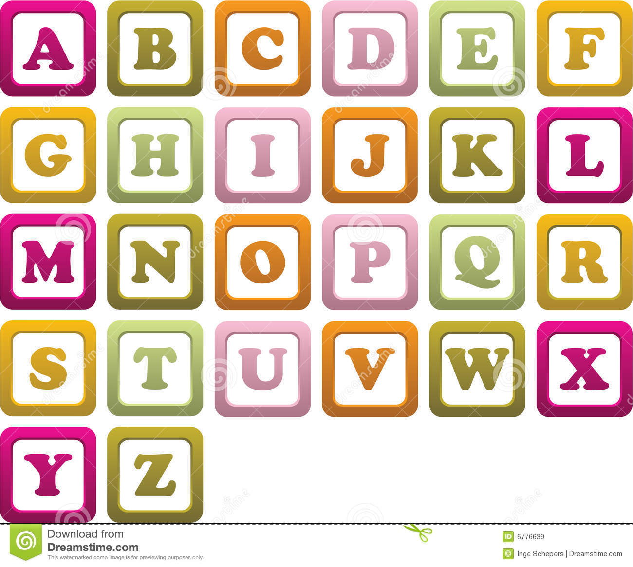 babys building blocks royalty free stock images
