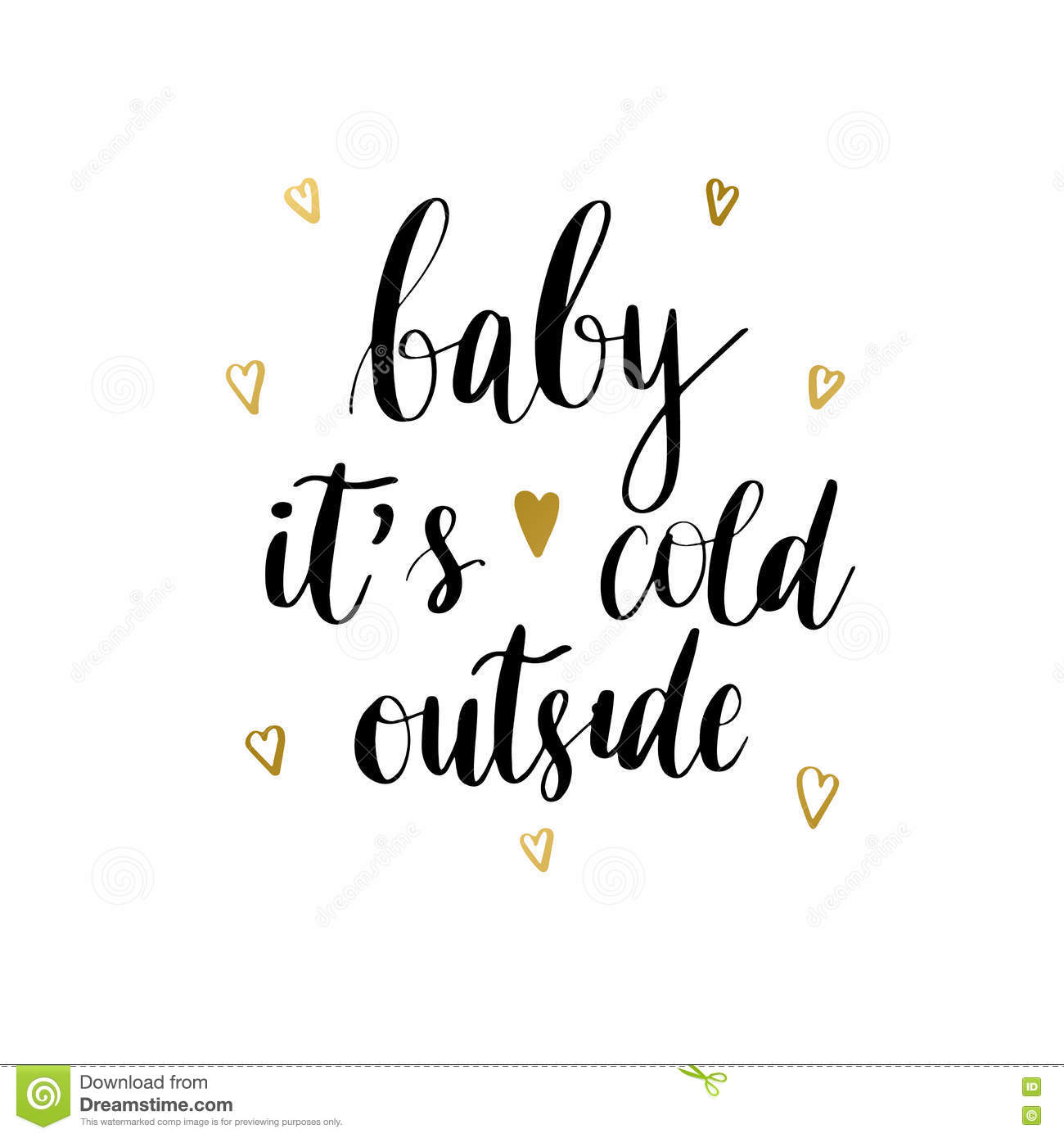 Baby It S Cold Outside Print Stock Illustration - Illustration of ...