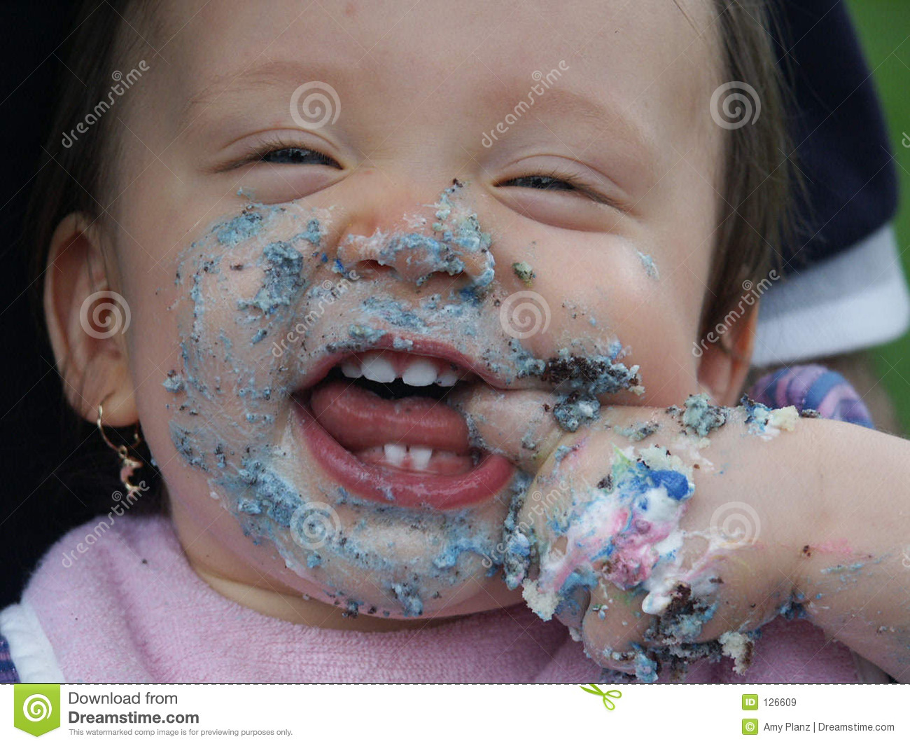 Images Cake In Face : Baby s face with cake stock image. Image of food, sweet ...
