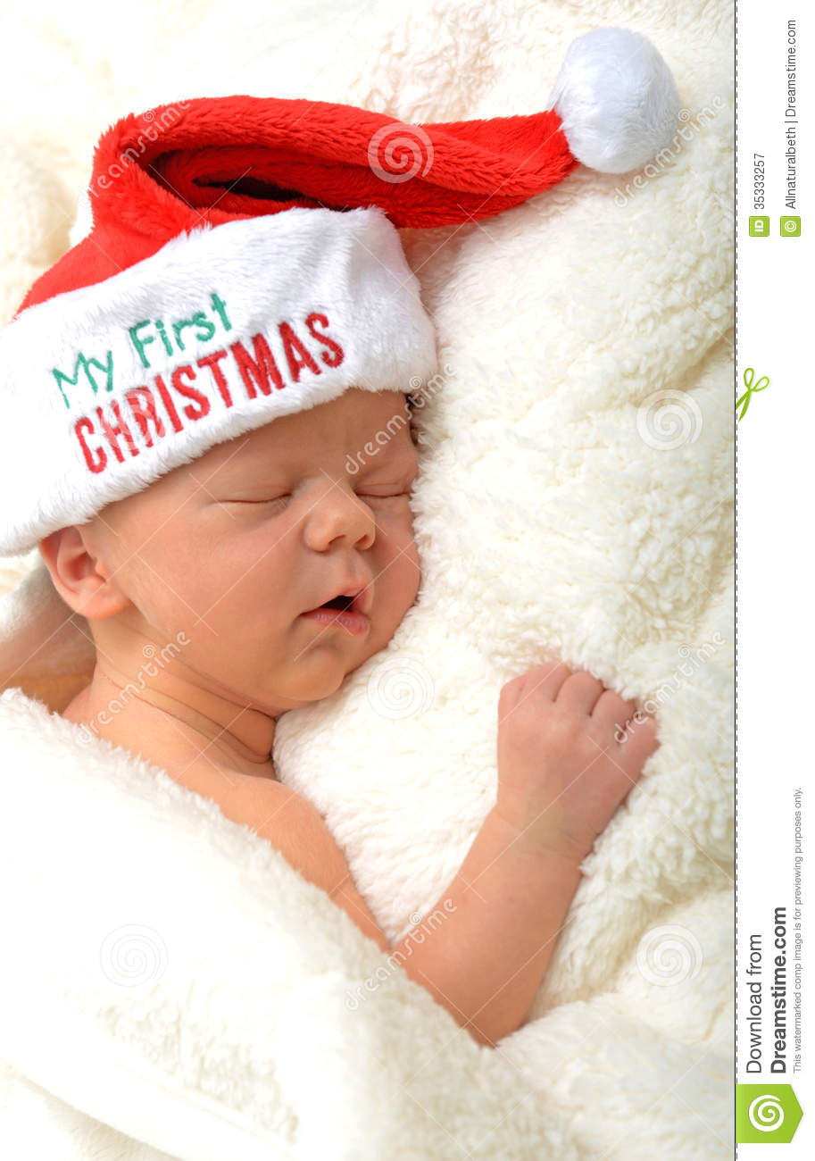Baby s first christmas royalty free stock photography image