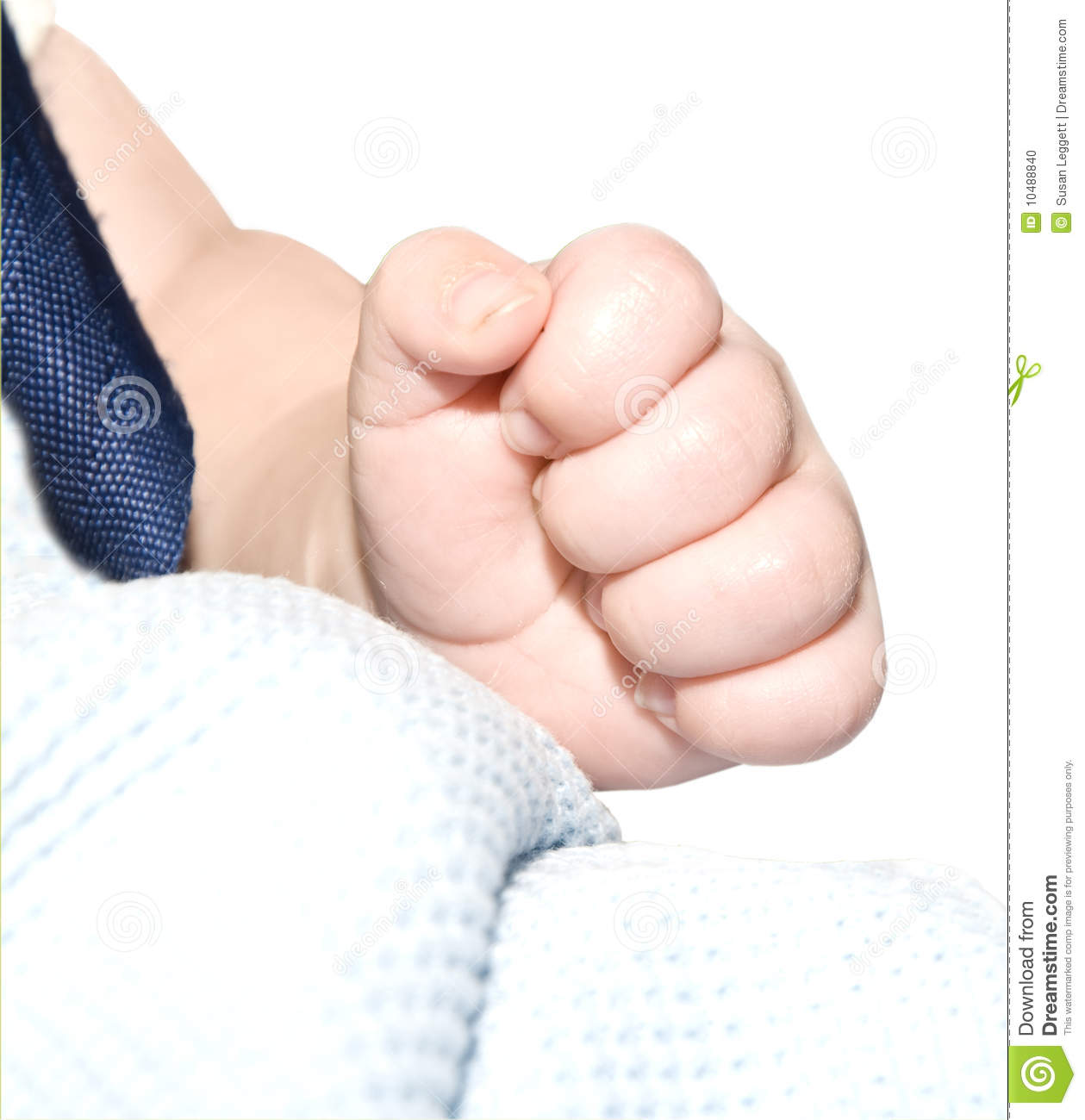 Baby making a fist